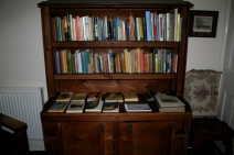 the bookshelves at Mt. Vernon